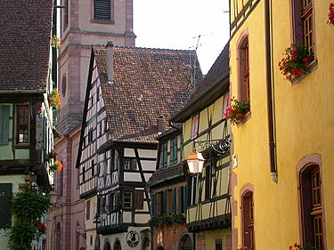 Only a few yards away from the main street is one of the two churches of Riquewihr