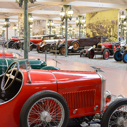 At the Automobile Museum, hundreds of wonderful cars from another age ...