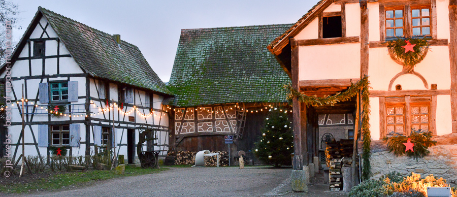 One of the beautiful old Alsatian farms at the living museum of Alsace.